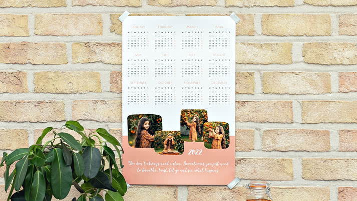 A one of a kind Photo Calendar